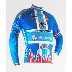 Merida синяя - велокуртка утепленная командная