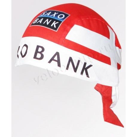 SAXO BANK RED - бандана