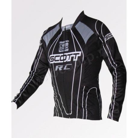 SCOTT black - велокуртка утепленная командная