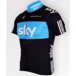 SKY black - футболка велосипедная