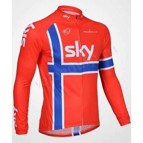 SKY-PINARELLO RED - велокуртка утепленная командная