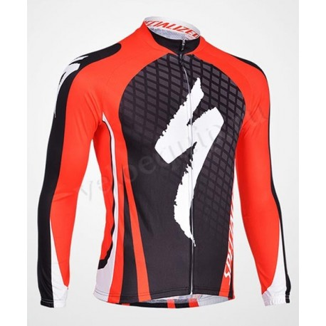 SPECIALIZED black red - велокуртка утепленная командная