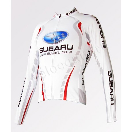 Subaru white - велокуртка легкая командная