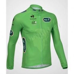 TOUR DE FRANCE green - велокуртка утепленная командная
