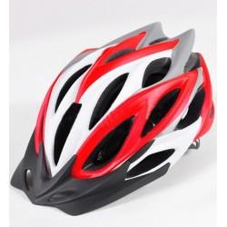 Велошлем взрослый BJL-033 красно-белый