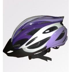 Велошлем взрослый BJL-033 сиреневый/белый