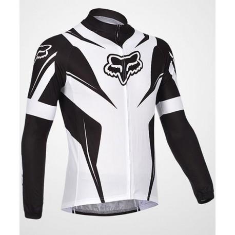 FOX black-white - велокуртка командная утепленная